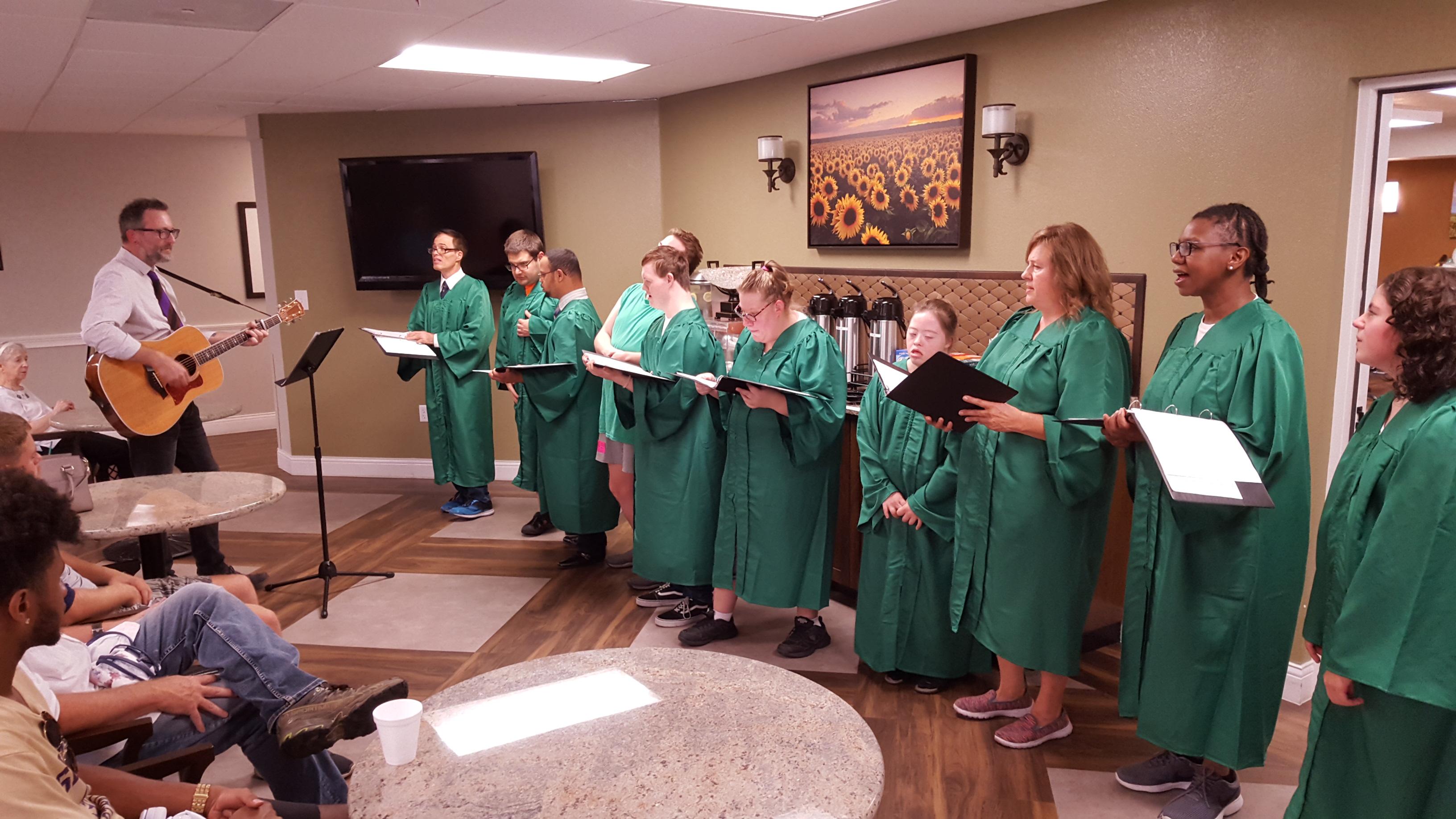 Civitones choir perform for audience
